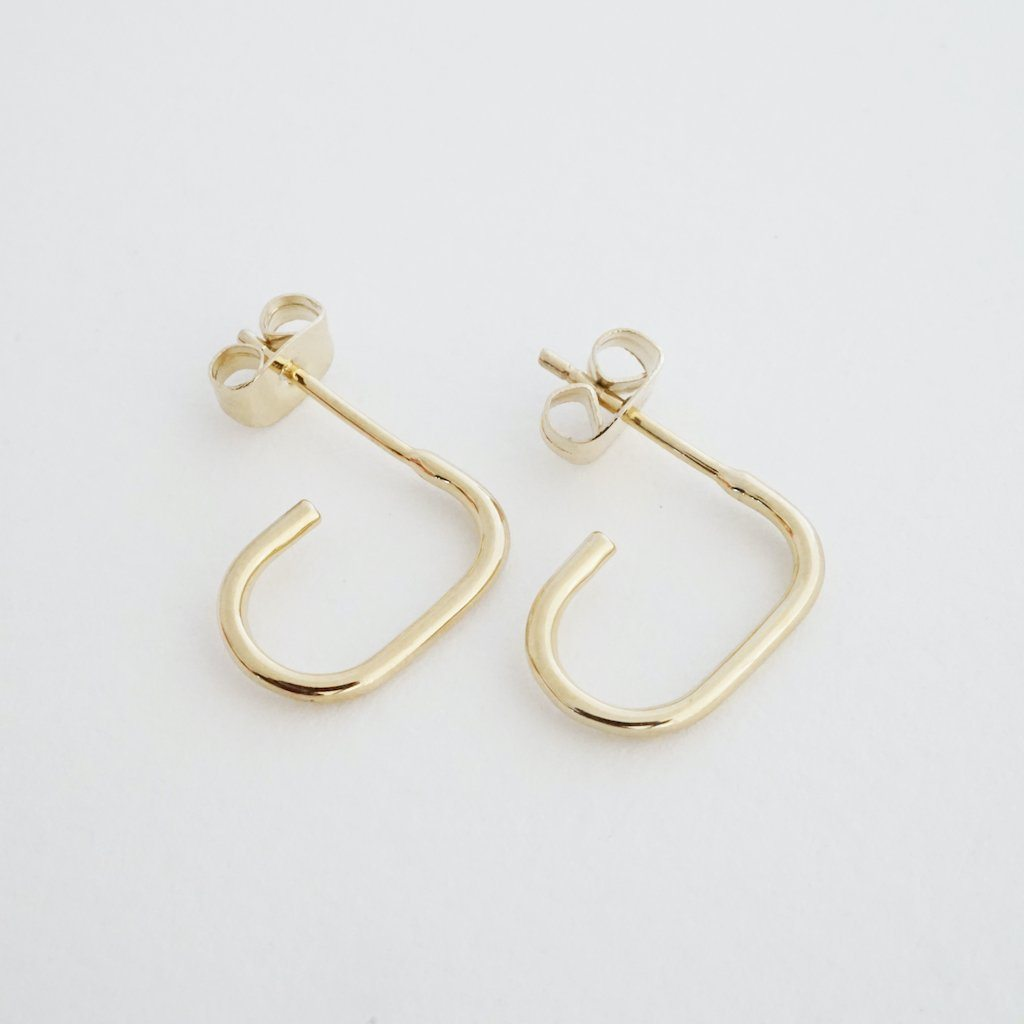 Paulette Oblong Hoops Earrings HONEYCAT Jewelry