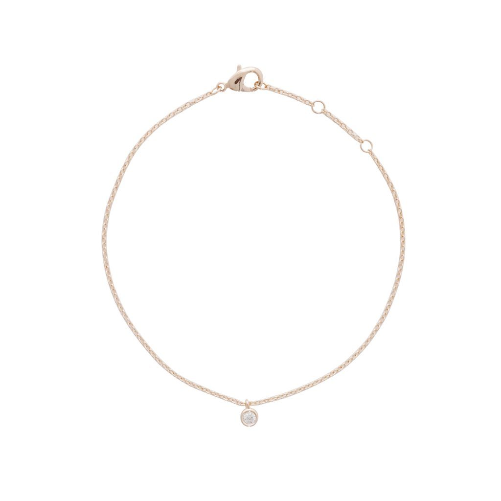 Petite Solitaire Bracelet Bracelets HONEYCAT Jewelry Rose Gold