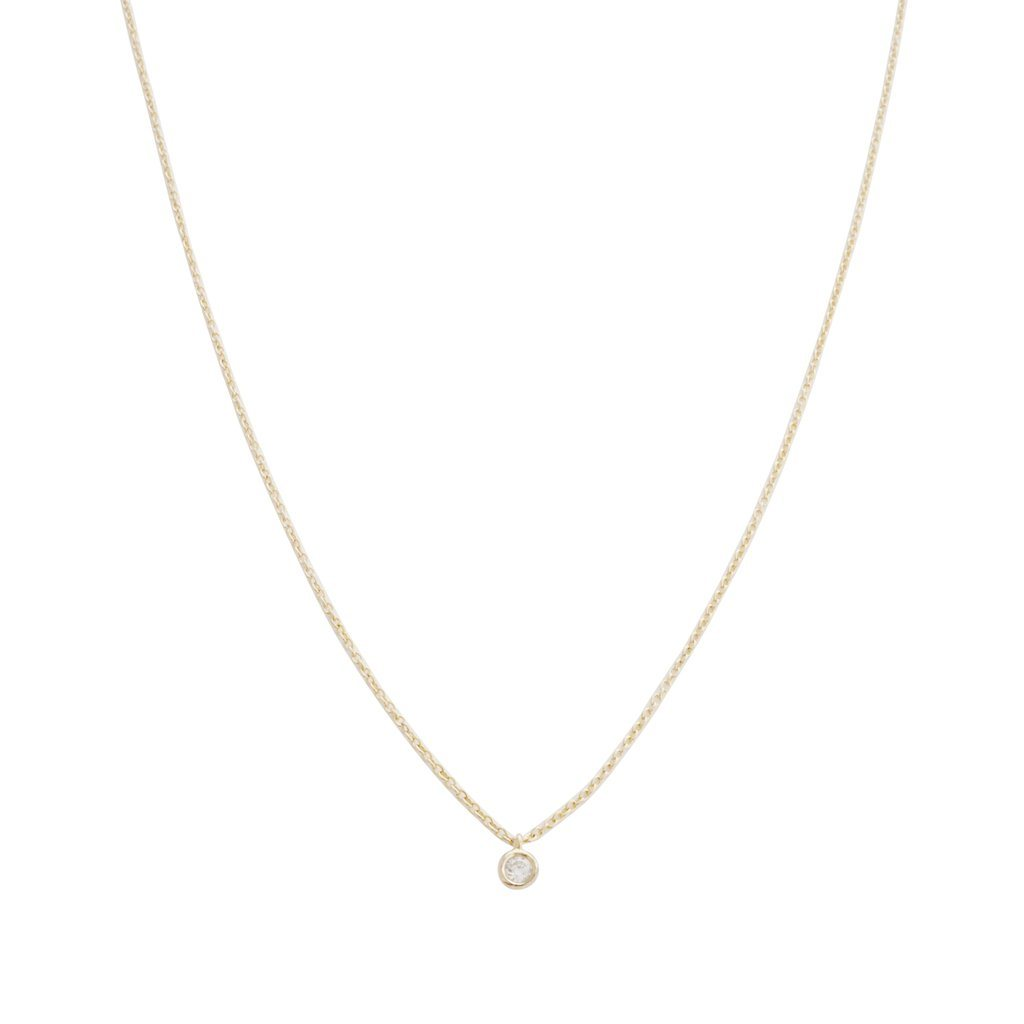 Petite Solitaire Necklace Necklaces HONEYCAT Jewelry Gold