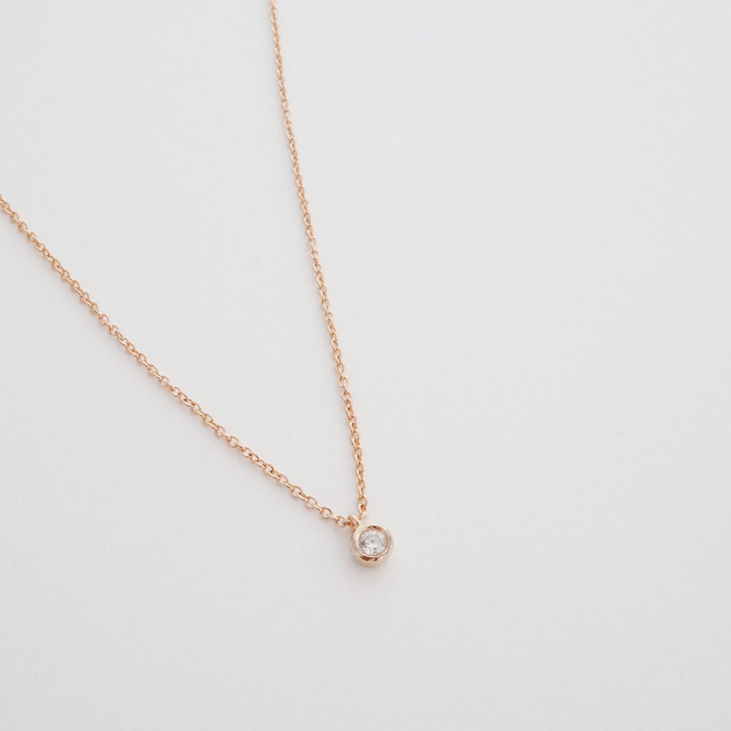 Petite Solitaire Necklace Necklaces HONEYCAT Jewelry