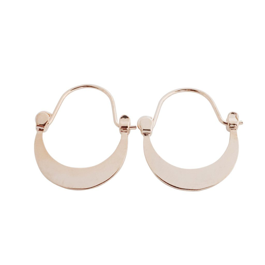 Presley Moon Hoops Earrings HONEYCAT Jewelry Rose Gold