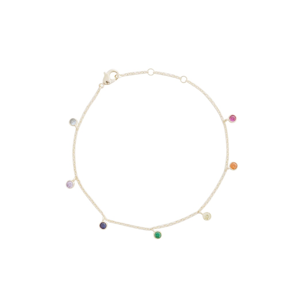 Rainbow Crystal Stardust Bracelet Bracelets HONEYCAT Jewelry Gold
