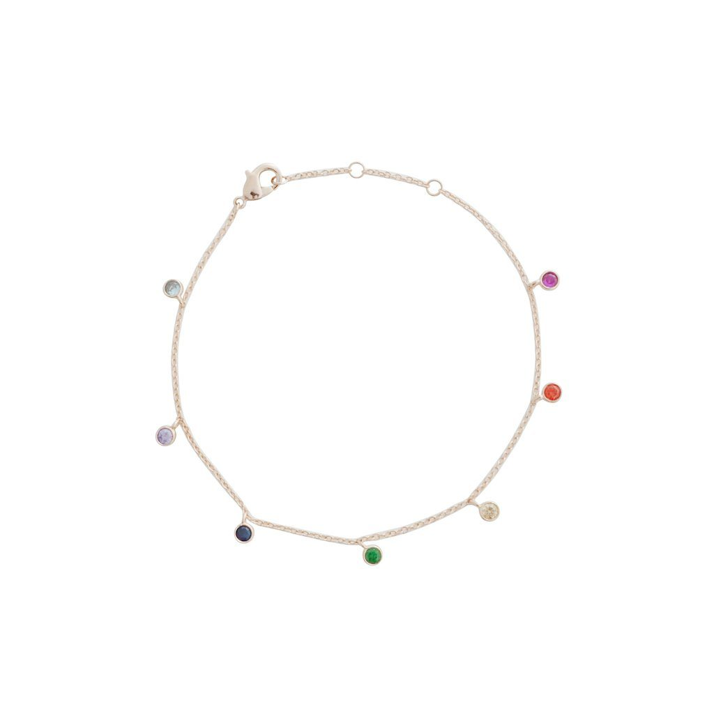 Rainbow Crystal Stardust Bracelet Bracelets HONEYCAT Jewelry Rose Gold