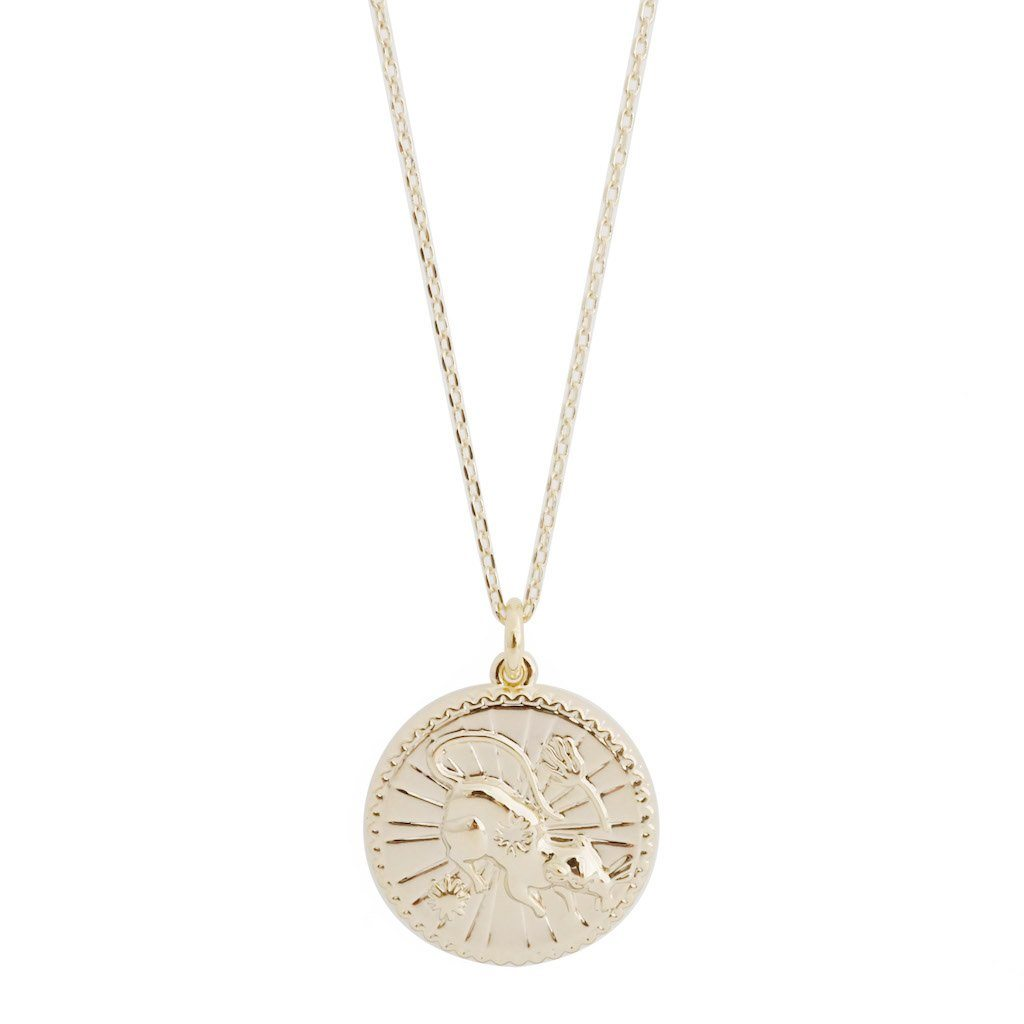 Chinese Zodiac Coin Necklace - Rat Necklaces HONEYCAT Jewelry Gold