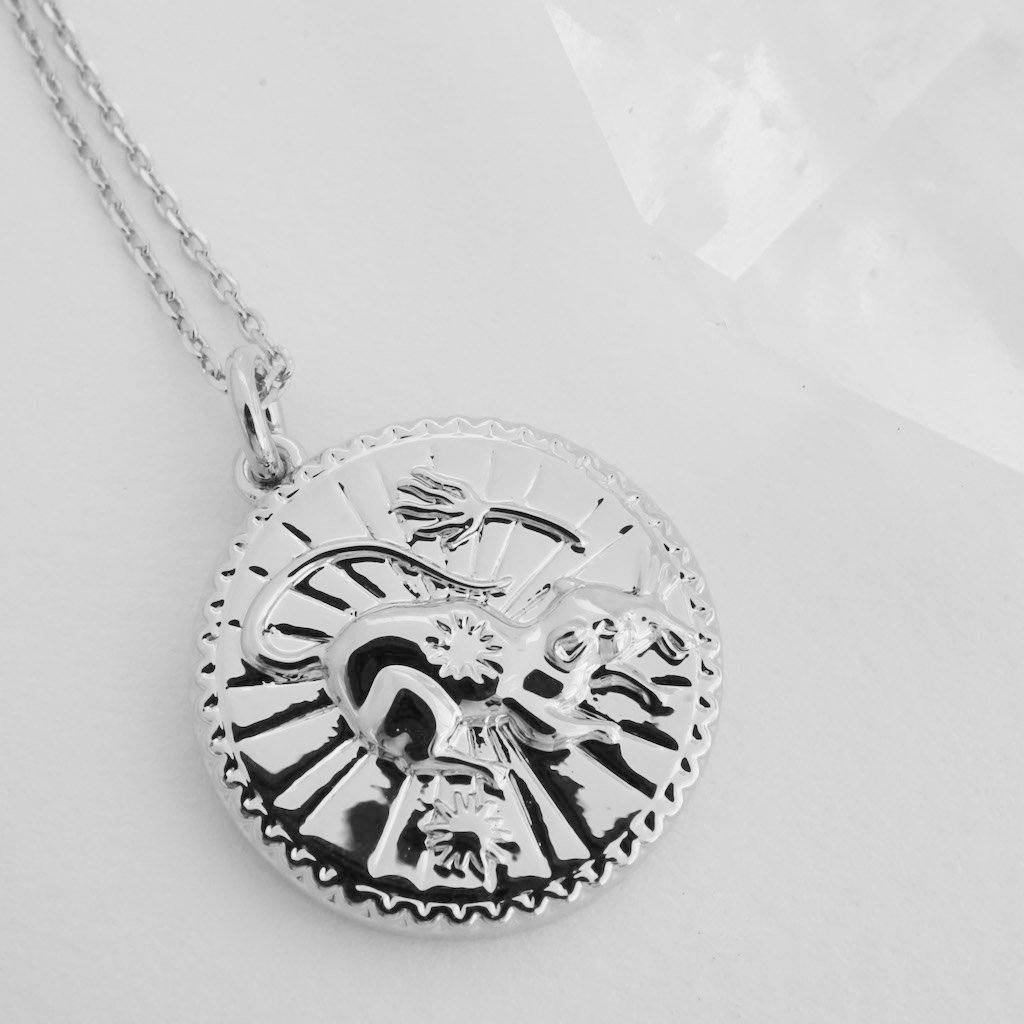 Chinese Zodiac Coin Necklace - Rat Necklaces HONEYCAT Jewelry