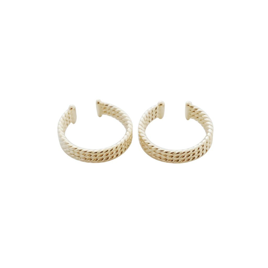 Roped Ear Cuffs Earrings HONEYCAT Jewelry Gold