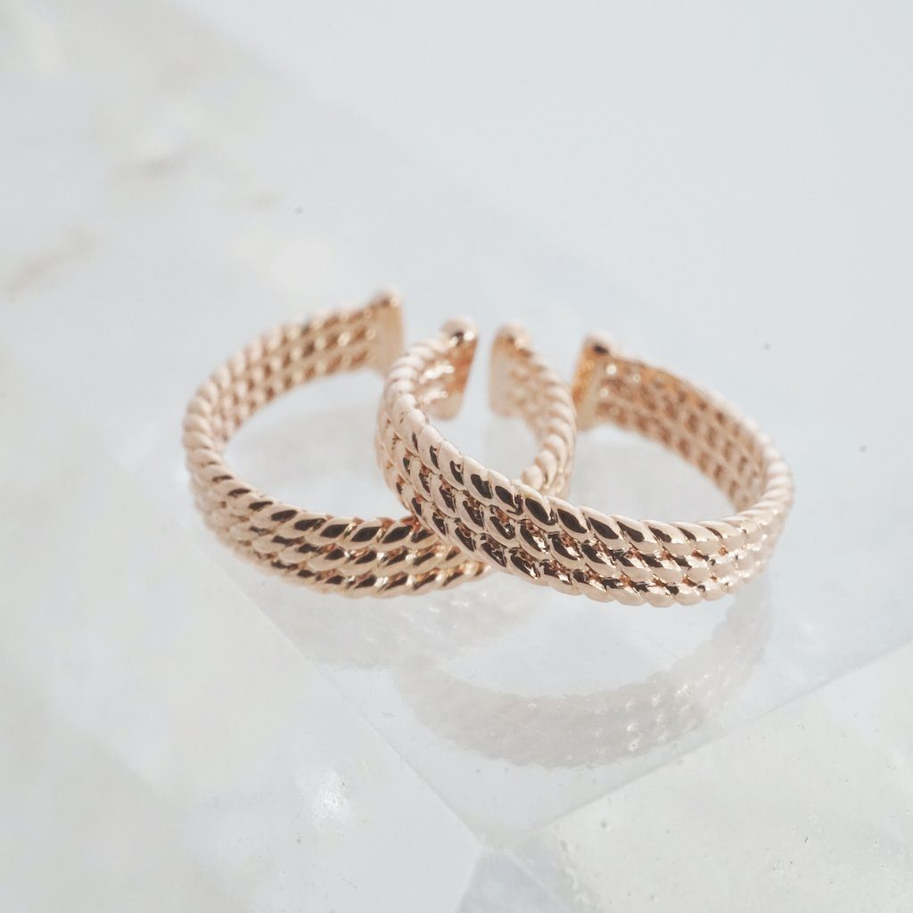 Roped Ear Cuffs Earrings HONEYCAT Jewelry