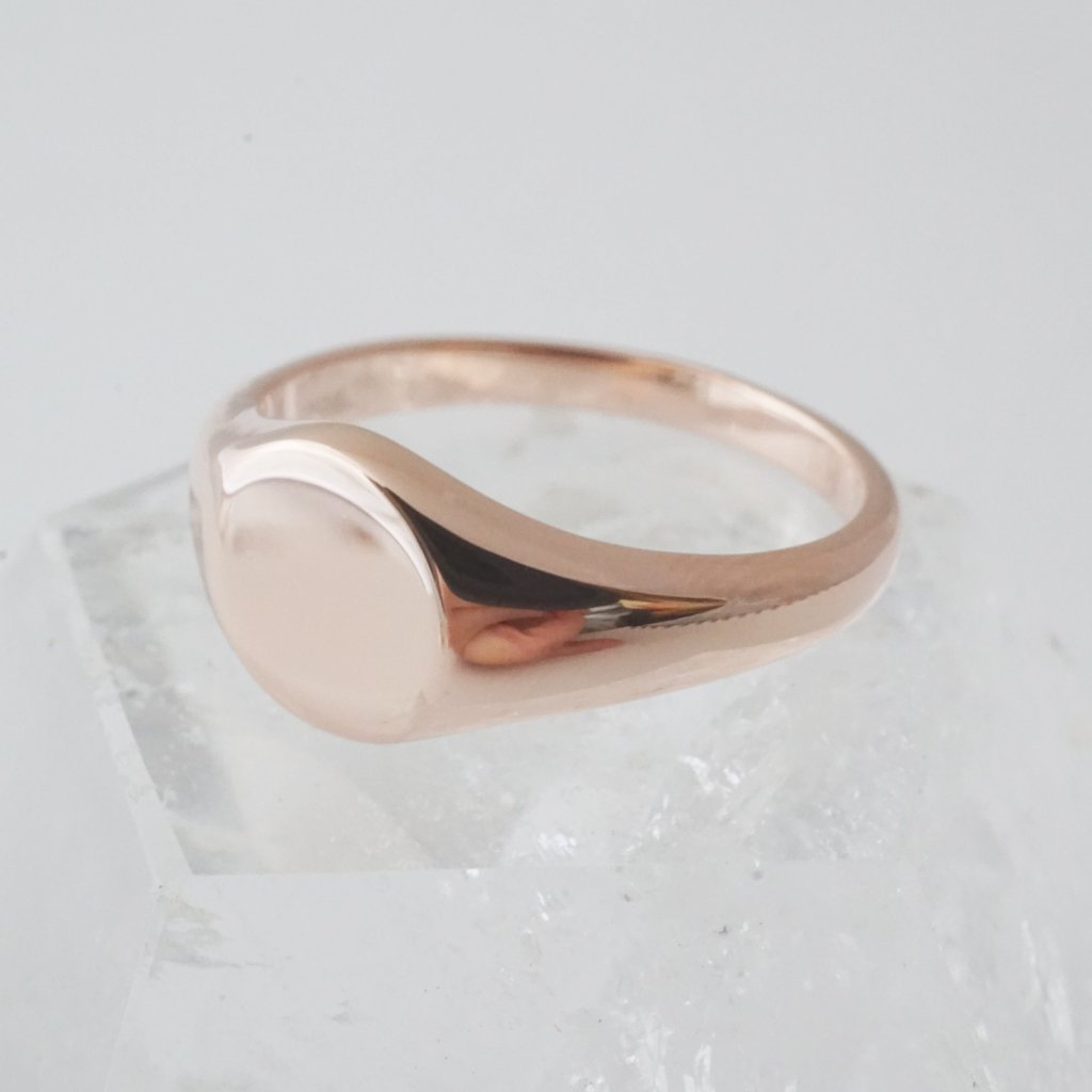 Taylor Signet Ring Rings HONEYCAT Jewelry Rose Gold 5