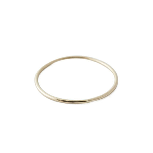 Skinny Stacking Ring, 14k Gold