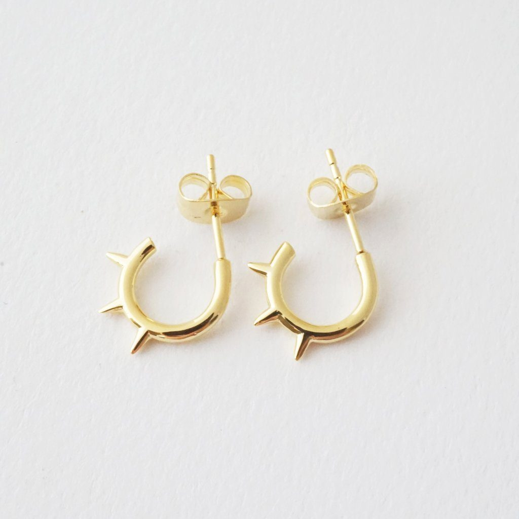 Spike Hoops Earrings HONEYCAT Jewelry