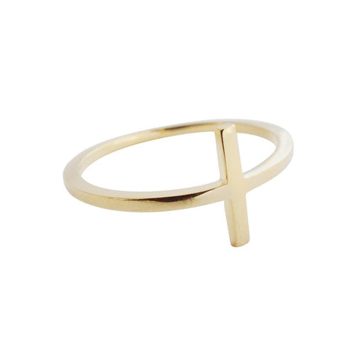 T-Bar Ring Rings HONEYCAT Jewelry Gold 5