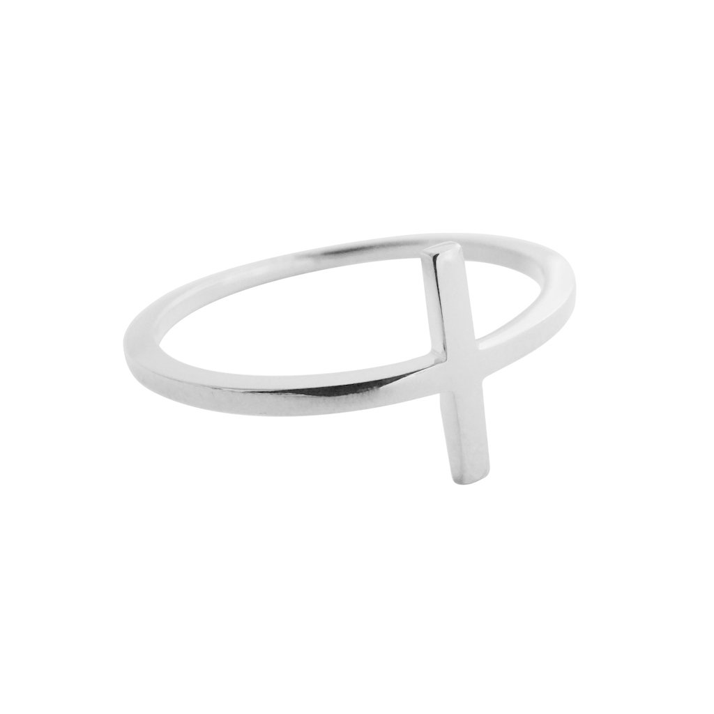 T-Bar Ring Rings HONEYCAT Jewelry Silver 5