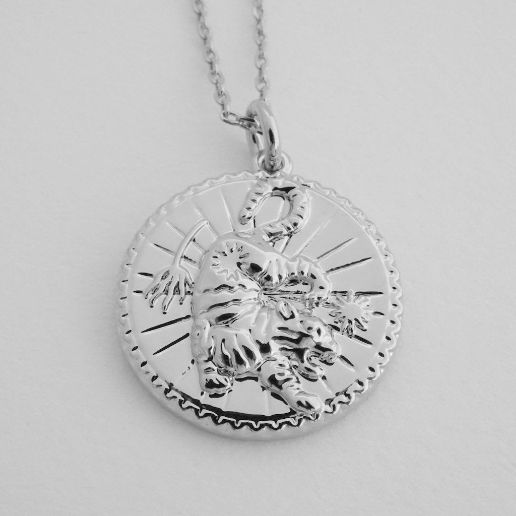 Chinese Zodiac Coin Necklace - Tiger Necklaces HONEYCAT Jewelry