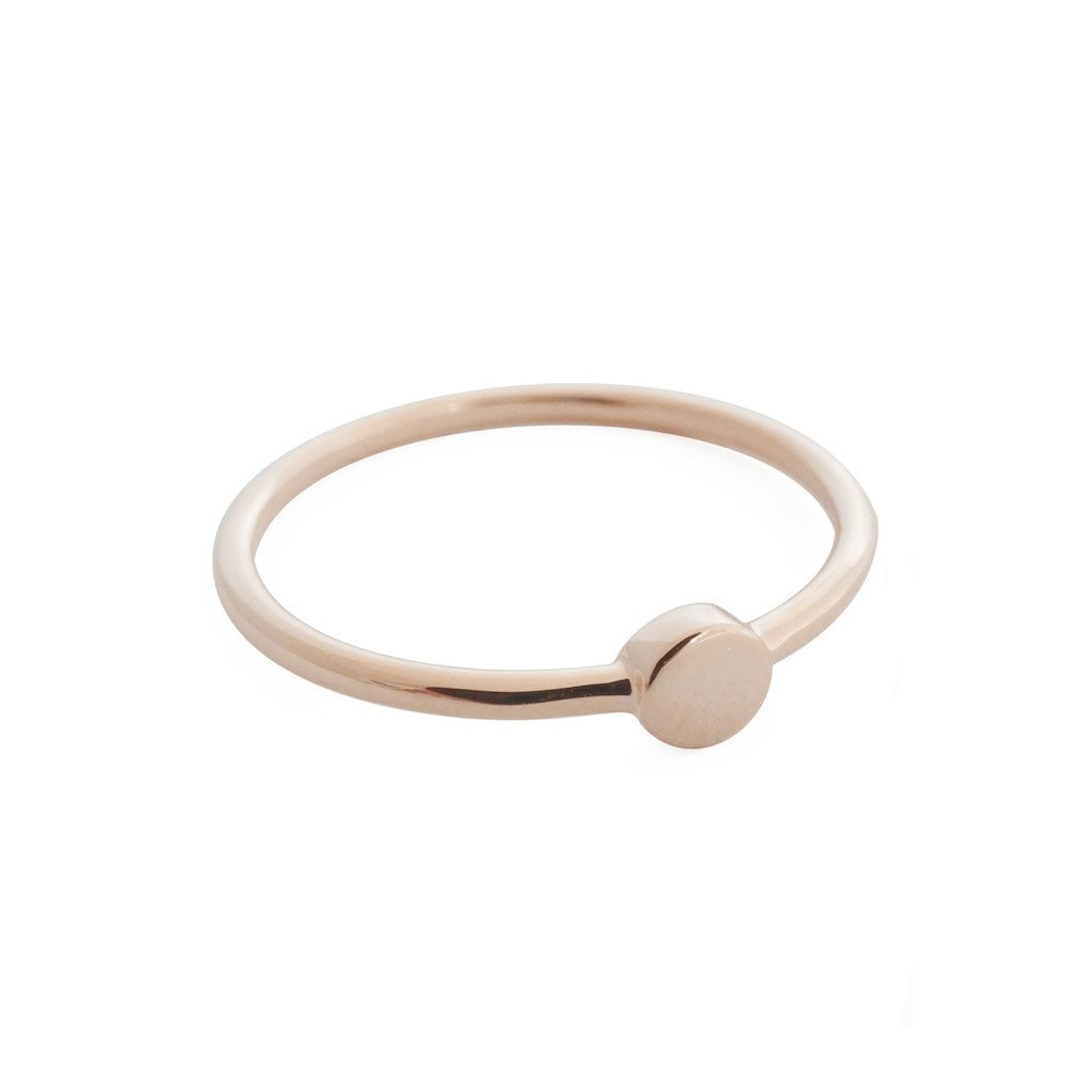 Tiny Circle Ring Rings HONEYCAT Jewelry Rose Gold 5