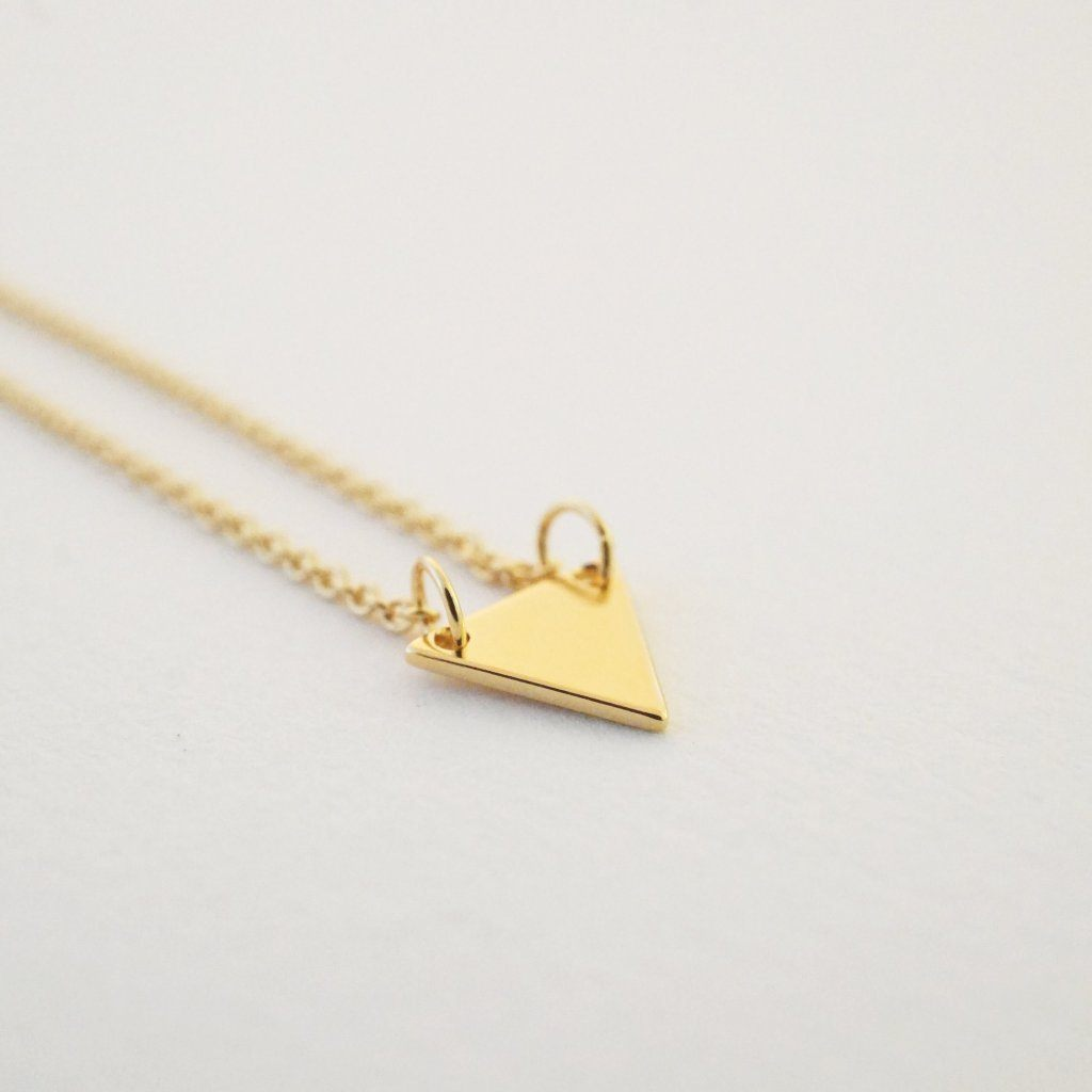 Triangle Pendant Necklace Necklaces HONEYCAT Jewelry Gold