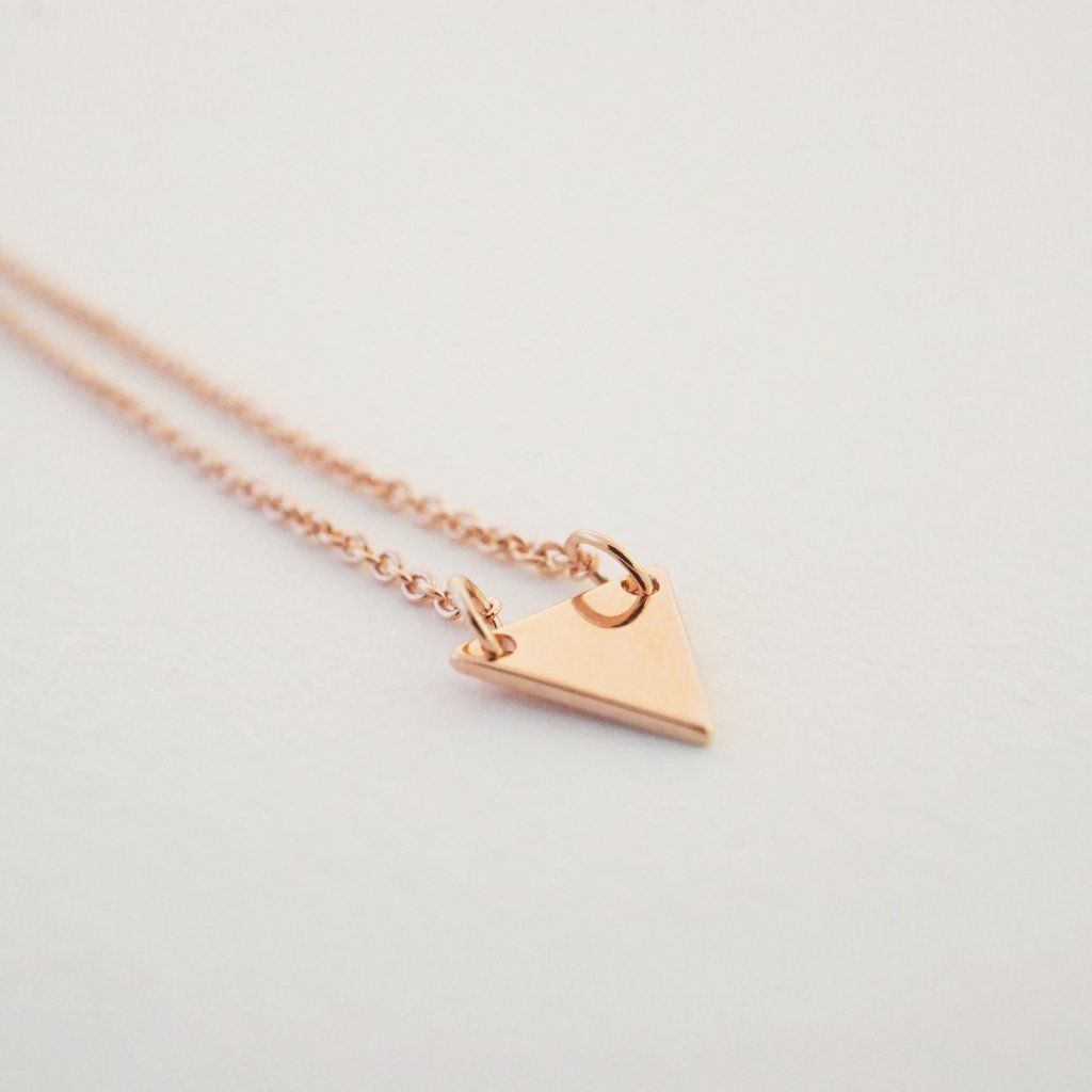 Triangle Pendant Necklace Necklaces HONEYCAT Jewelry Rose Gold