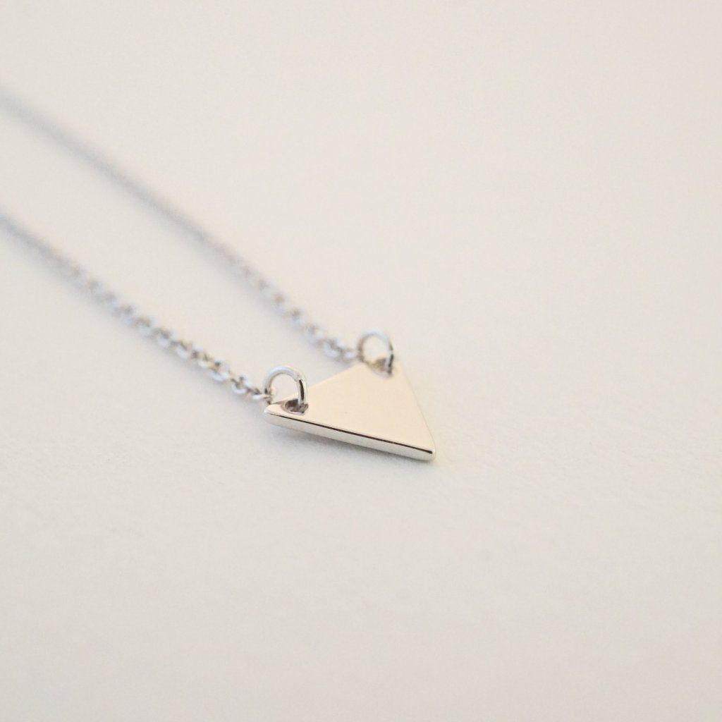 Triangle Pendant Necklace Necklaces HONEYCAT Jewelry Silver