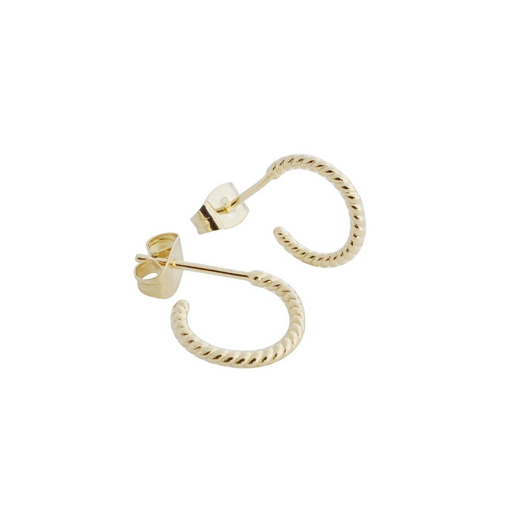 Twisted Rope Hoops Earrings HONEYCAT Jewelry Gold