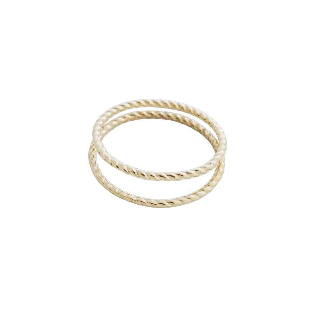 Twisted Rope Rings Rings HONEYCAT Jewelry Gold 5