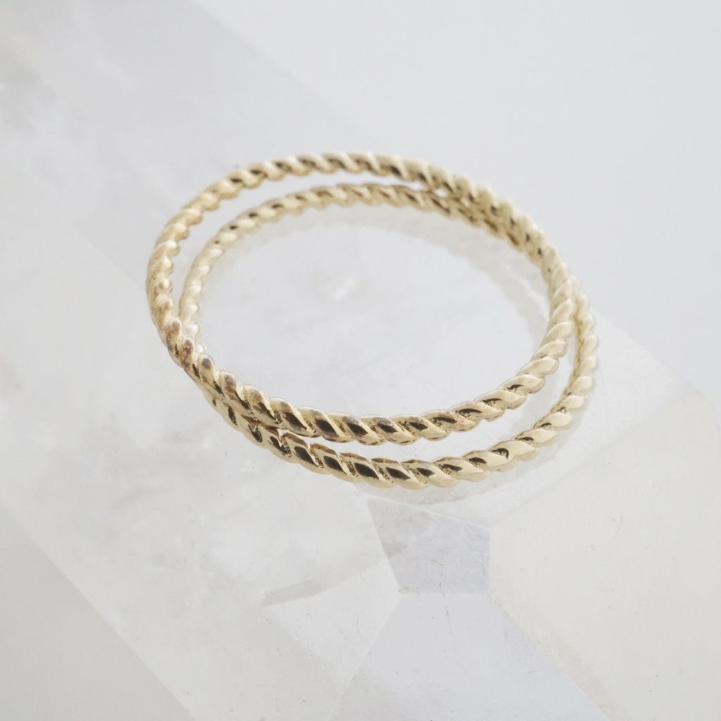 Twisted Rope Rings Rings HONEYCAT Jewelry