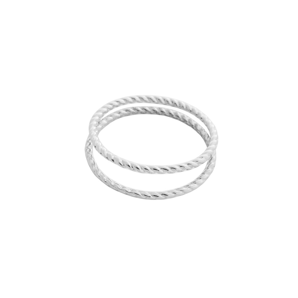 Twisted Rope Rings Rings HONEYCAT Jewelry Silver 5