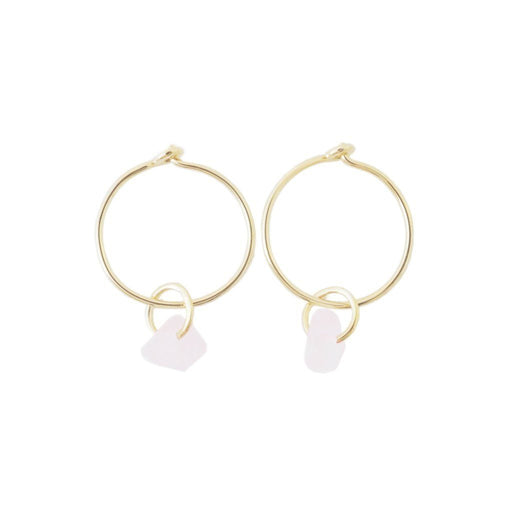 Wishing Crystal Hoop Earrings Earrings HONEYCAT Jewelry