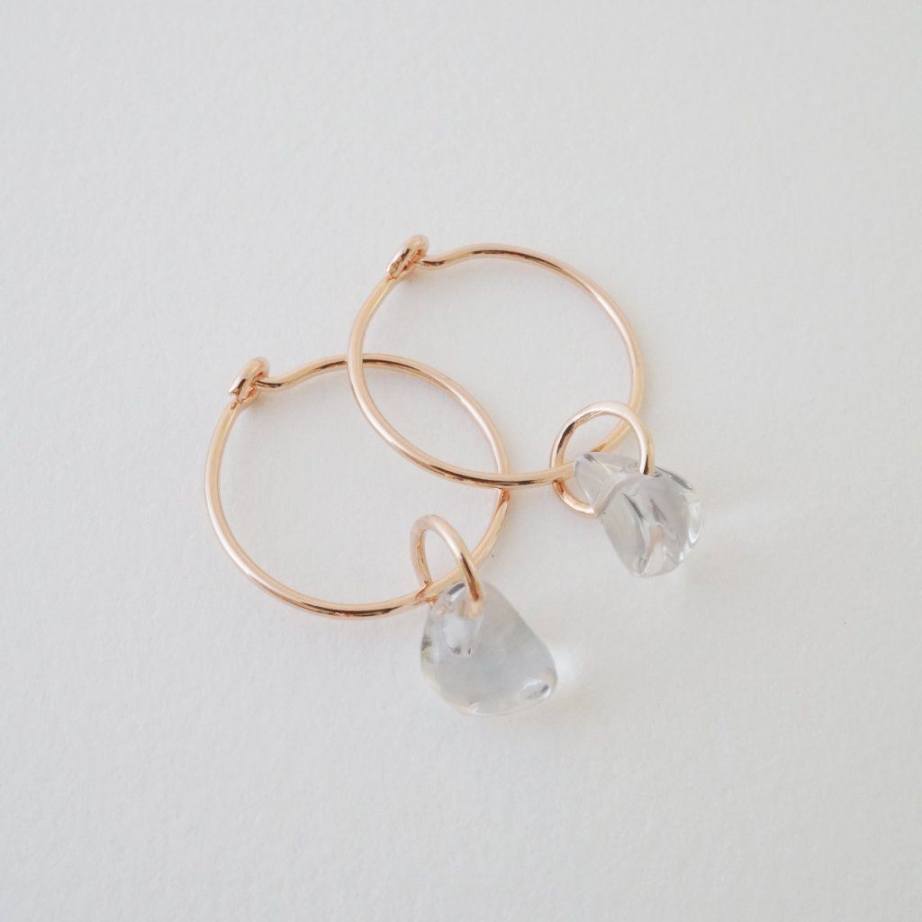 Wishing Crystal Hoop Earrings