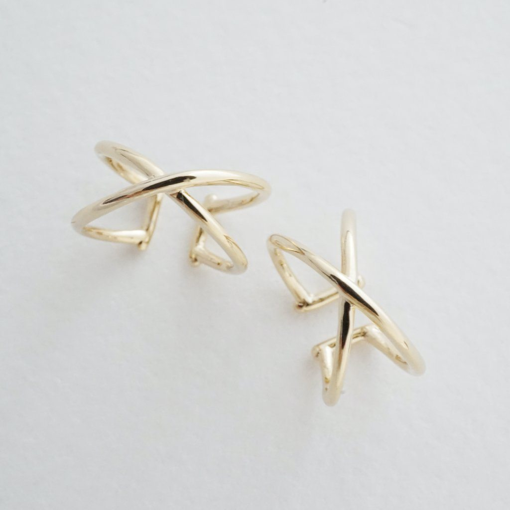 X Ear Cuffs Earrings HONEYCAT Jewelry