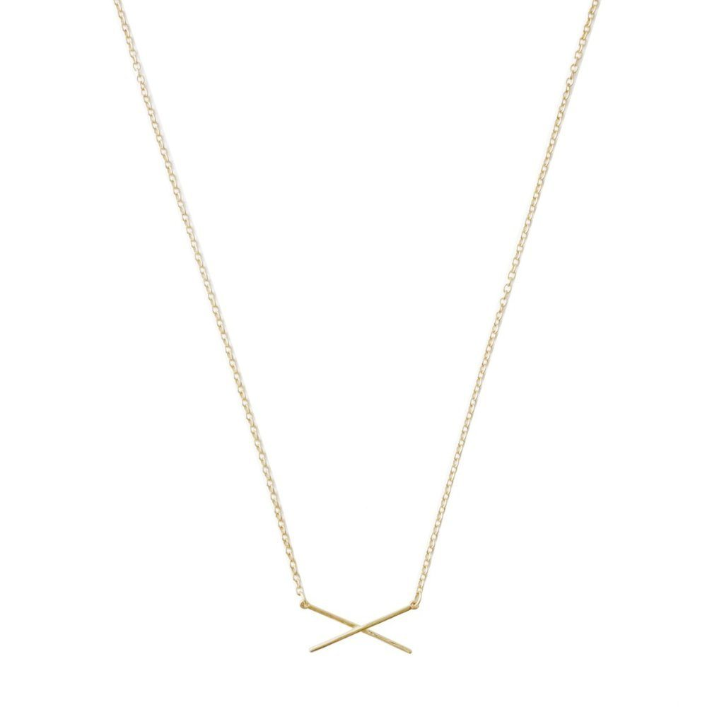 X Bar Necklace Necklaces HONEYCAT Jewelry Gold