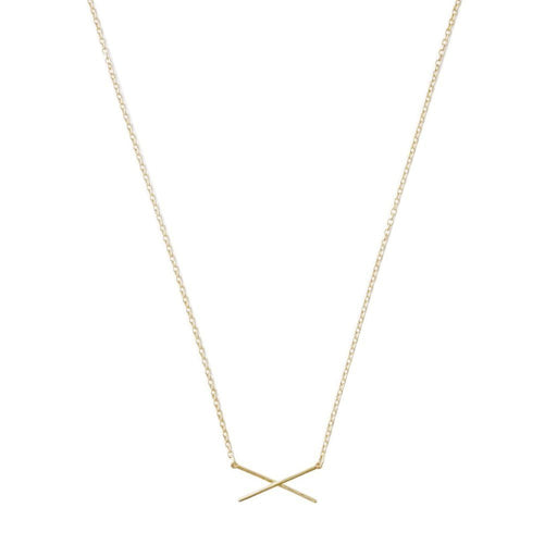 X Bar Necklace