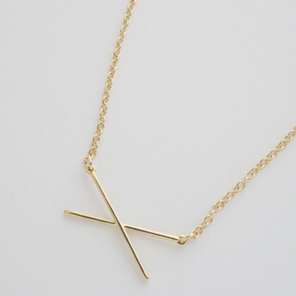 X Bar Necklace Necklaces HONEYCAT Jewelry