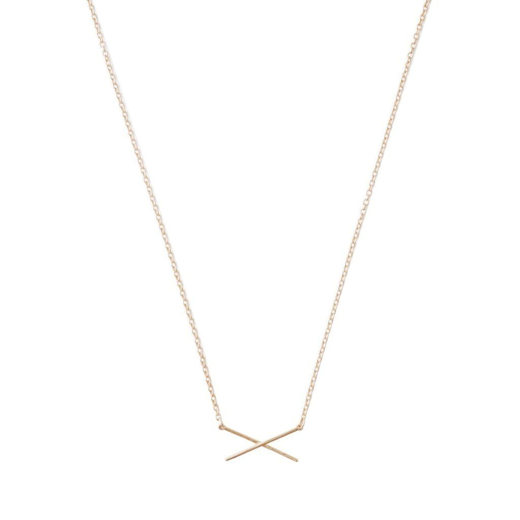 X Bar Necklace Necklaces HONEYCAT Jewelry Rose Gold