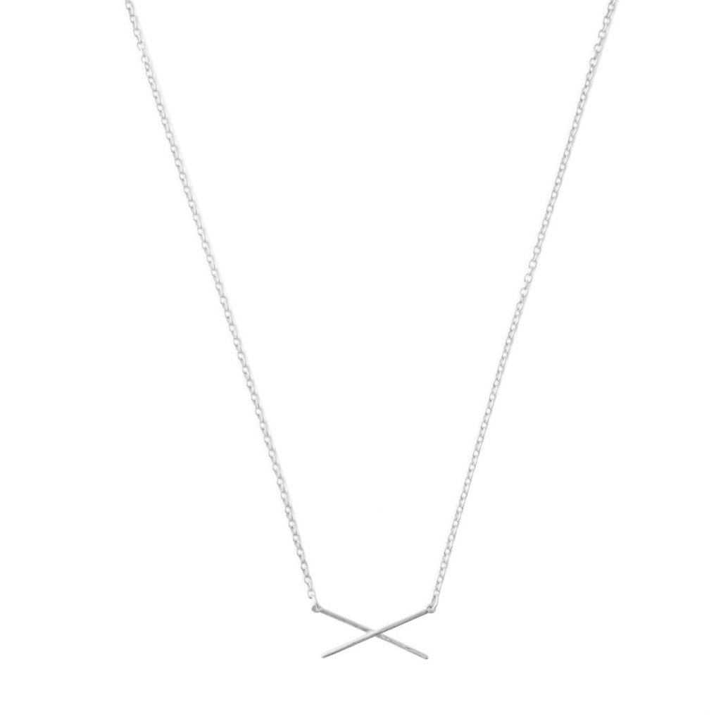 X Bar Necklace Necklaces HONEYCAT Jewelry Silver