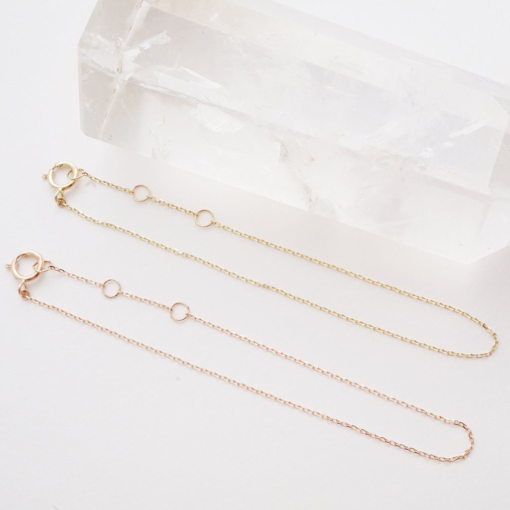 Whisper Thin Chain Bracelet, 14k Gold