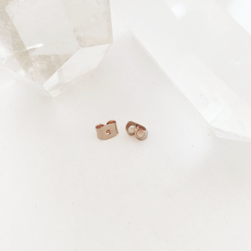 Stud Earring Backs Jewelry Care HONEYCAT Jewelry Rose Gold