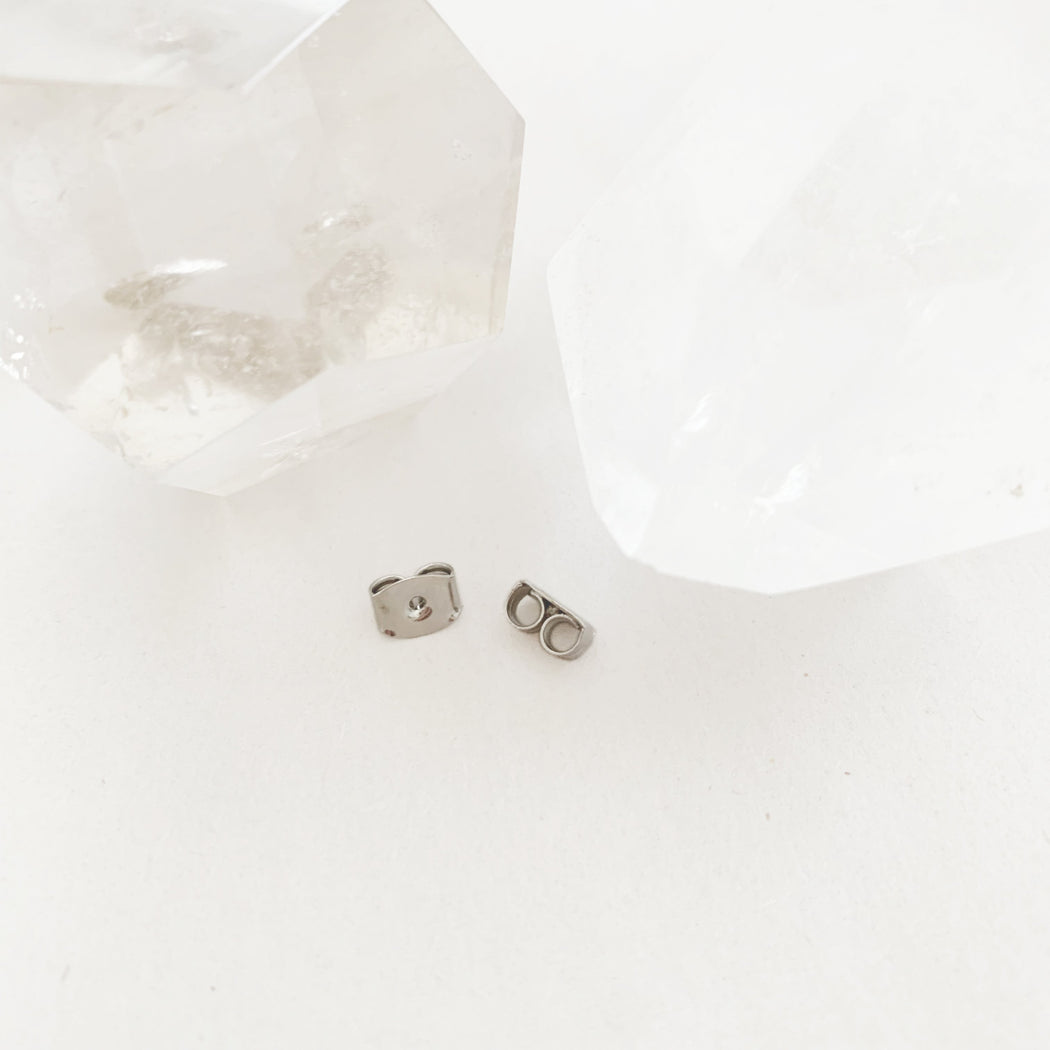 Stud Earring Backs Jewelry Care HONEYCAT Jewelry Silver