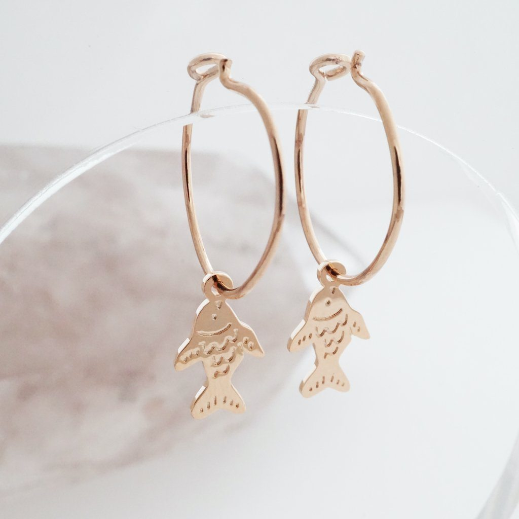 Magic Charm Taiyaki Fish Hoops Earrings HONEYCAT Jewelry