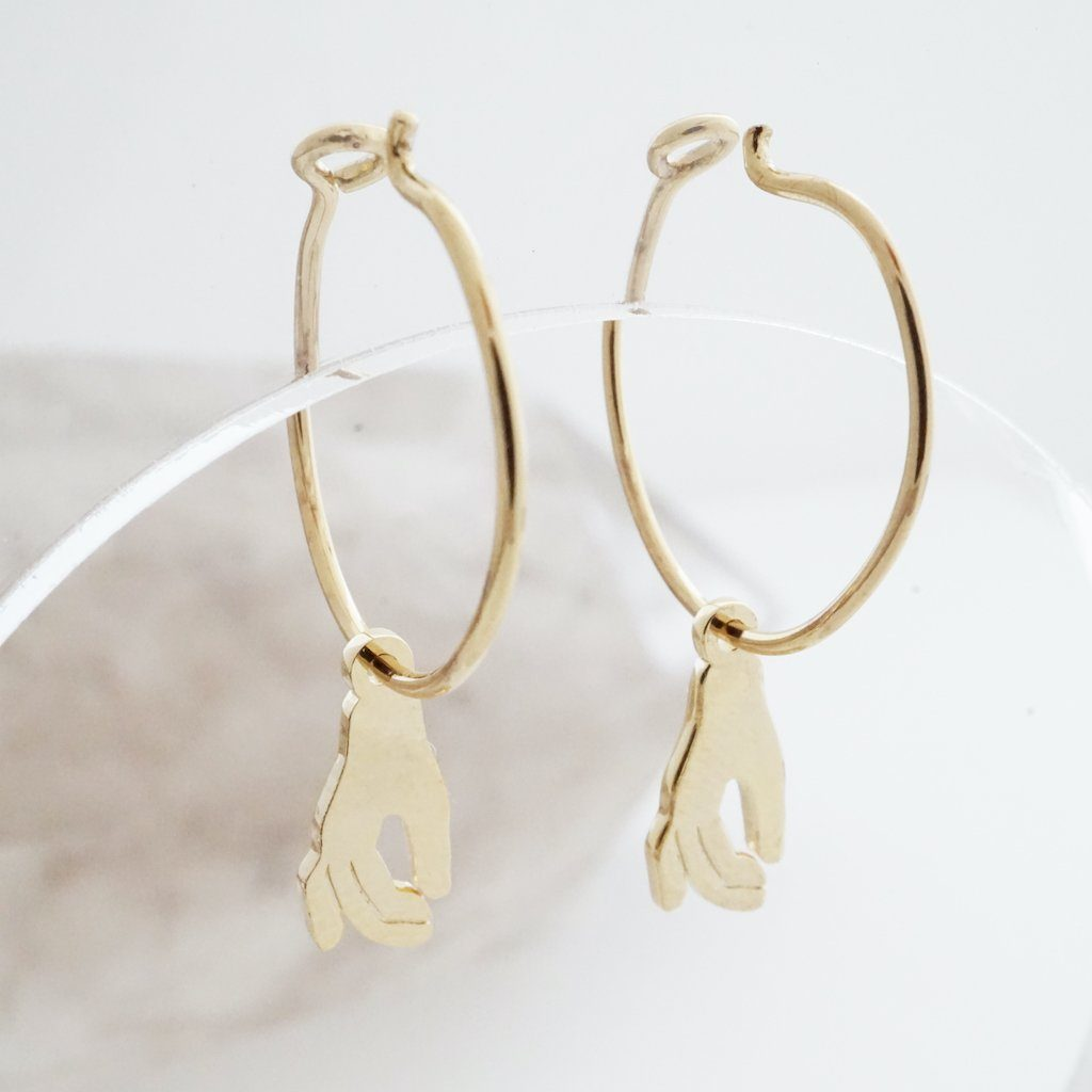 Magic Charm Hand Hoops Earrings HONEYCAT Jewelry