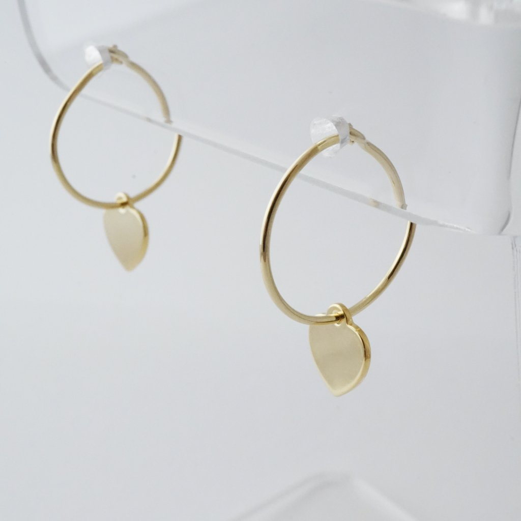 Choosey Heart Hoops Earrings HONEYCAT Jewelry