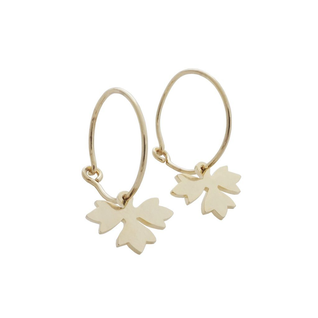Magic Charm Sprout Hoops Earrings HONEYCAT Jewelry Gold