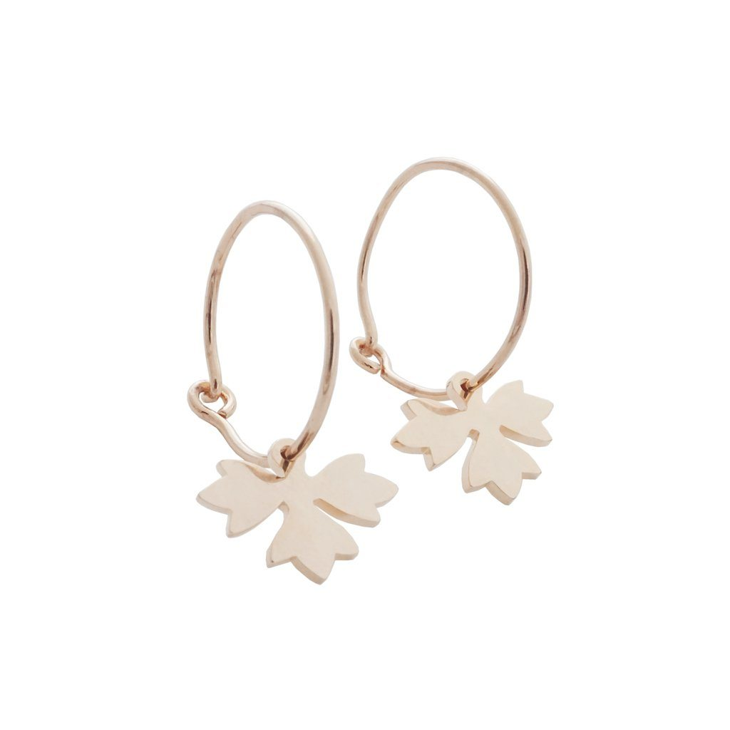 Magic Charm Sprout Hoops Earrings HONEYCAT Jewelry Rose Gold