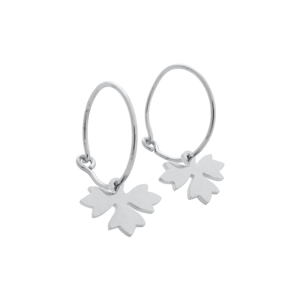 Magic Charm Sprout Hoops Earrings HONEYCAT Jewelry Silver
