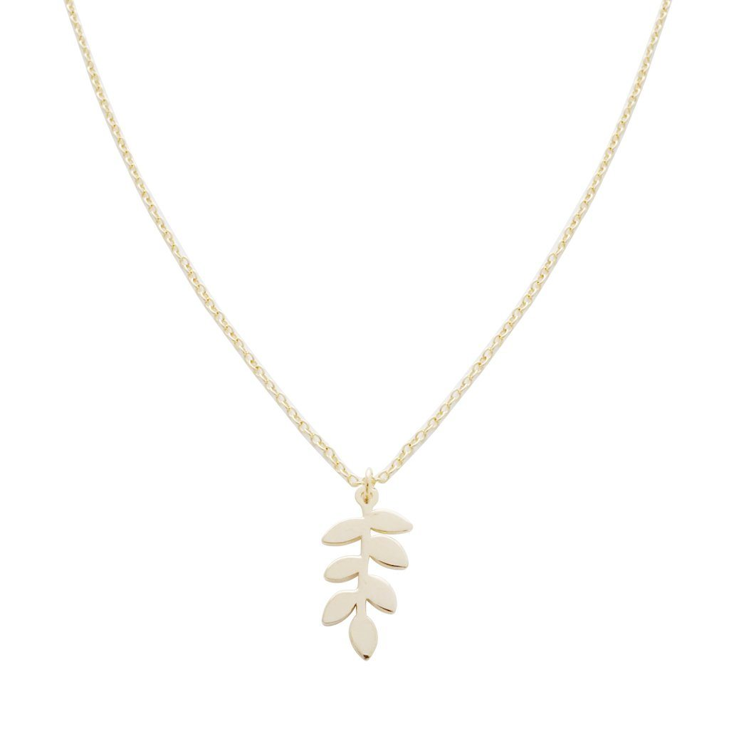 Magic Charm Fern Necklace Necklaces HONEYCAT Jewelry Gold
