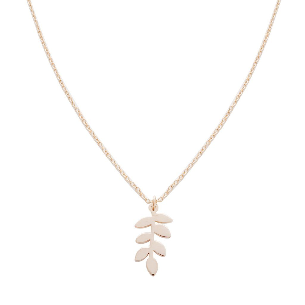 Magic Charm Fern Necklace Necklaces HONEYCAT Jewelry Rose Gold