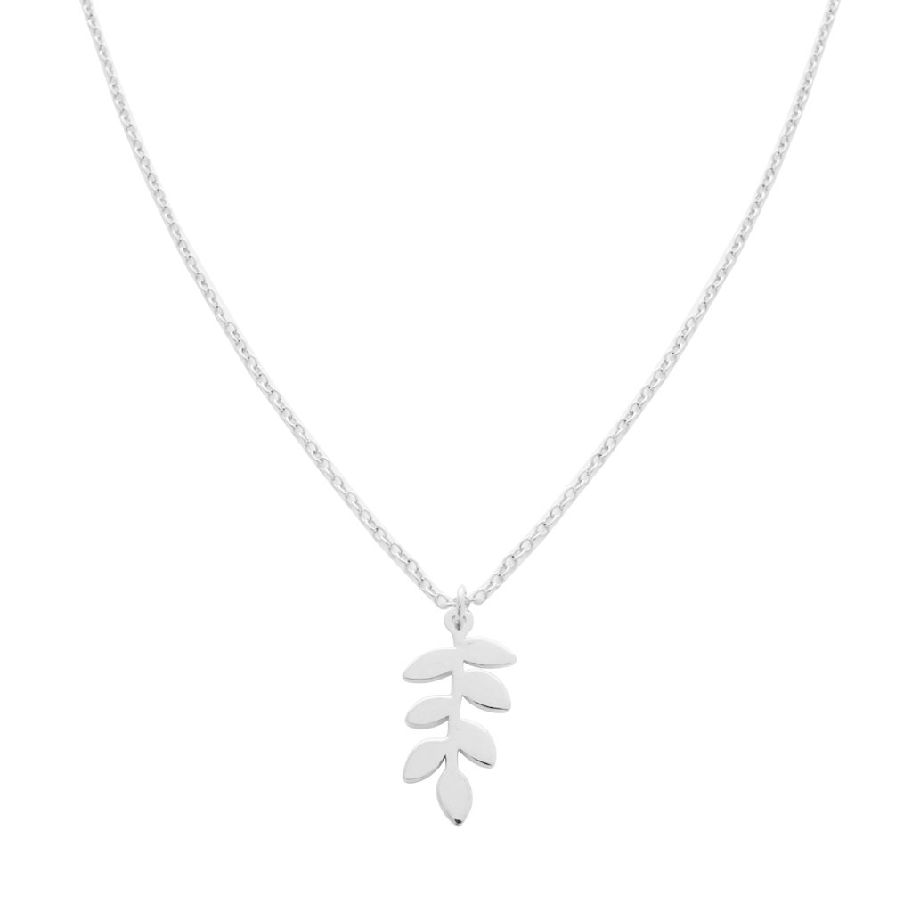 Magic Charm Fern Necklace Necklaces HONEYCAT Jewelry Silver