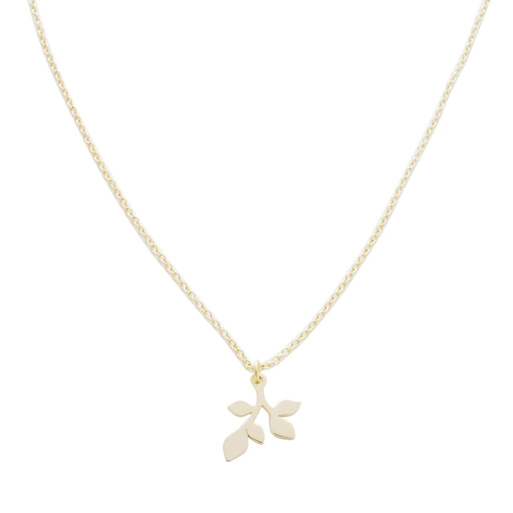 Magic Charm Leaf Necklace Necklaces HONEYCAT Jewelry Gold
