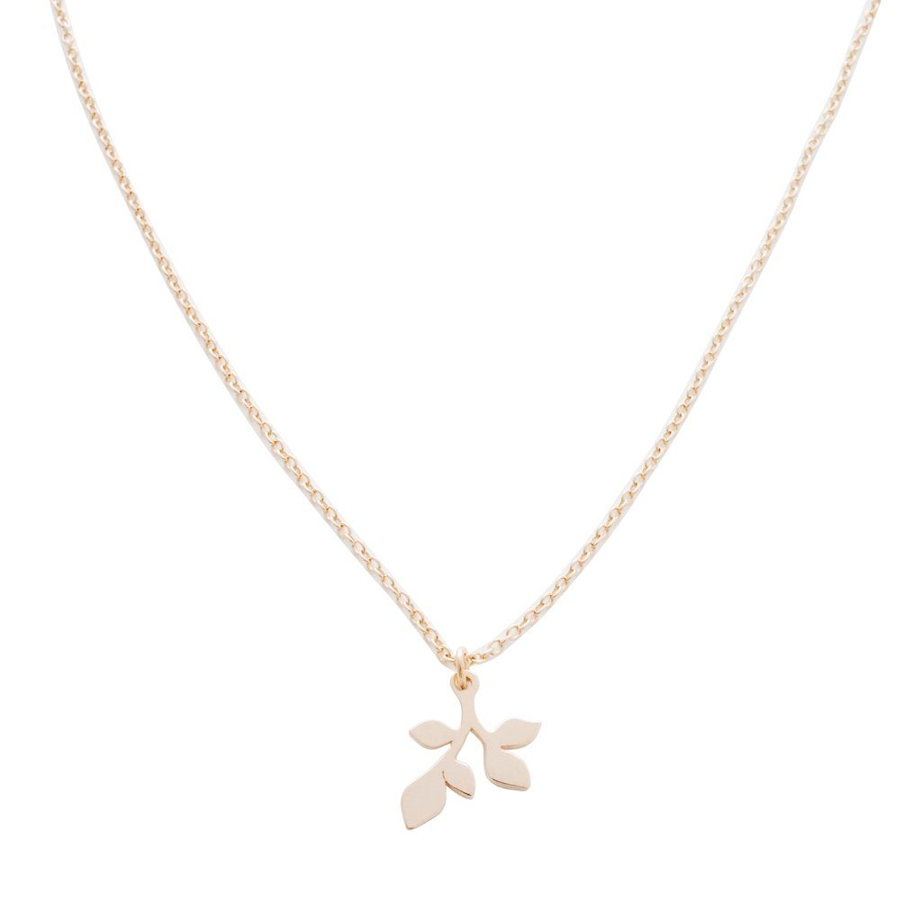 Magic Charm Leaf Necklace Necklaces HONEYCAT Jewelry Rose Gold