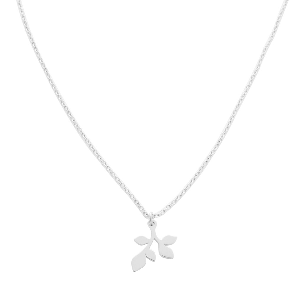 Magic Charm Leaf Necklace Necklaces HONEYCAT Jewelry Silver