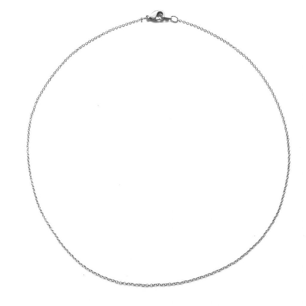 Simple Chain Choker Necklaces HONEYCAT Jewelry Silver