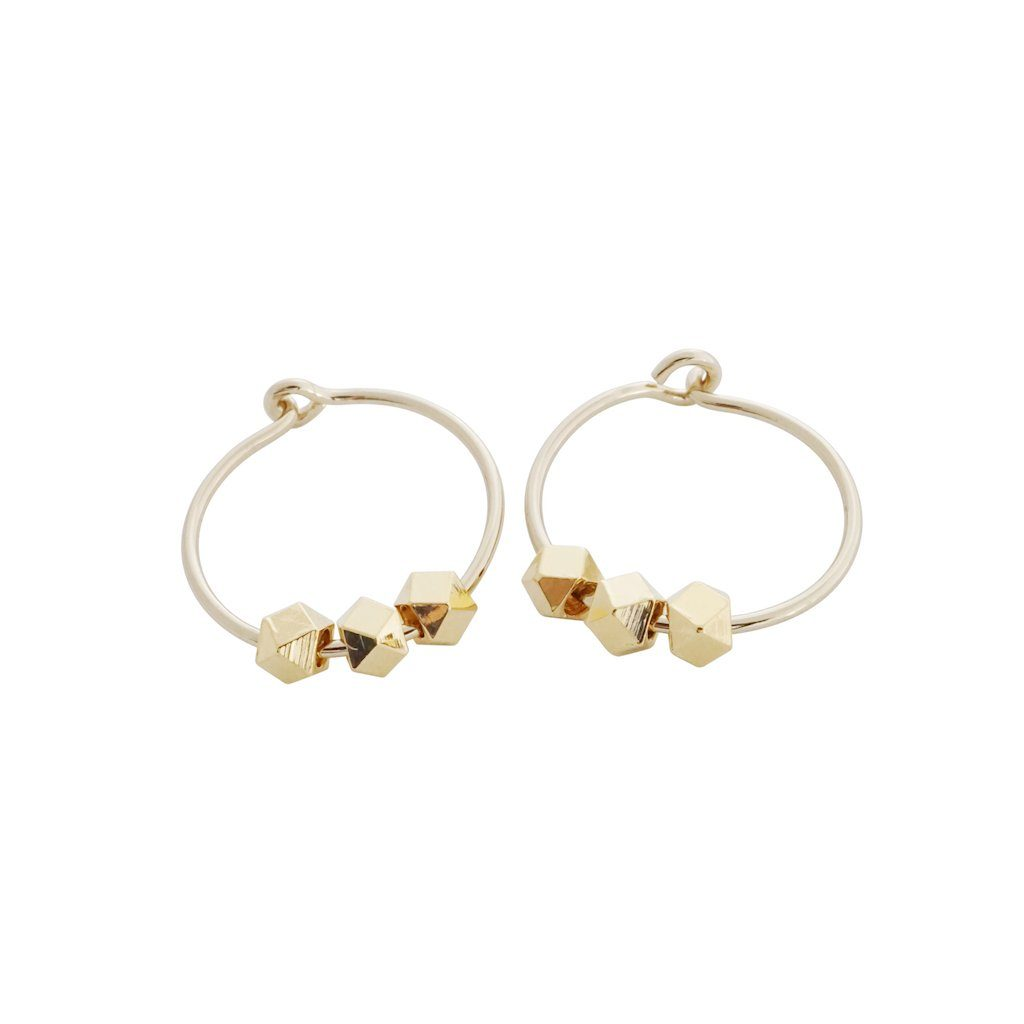Comet Hoops Earrings HONEYCAT Jewelry Gold